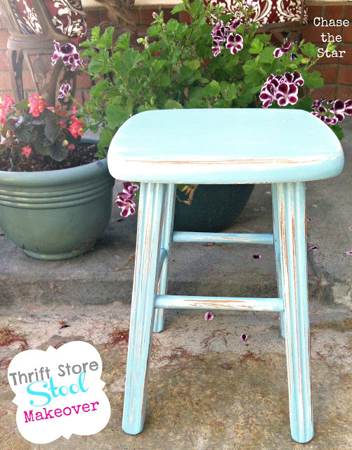 turquoise, stool, blue, distress, rustic