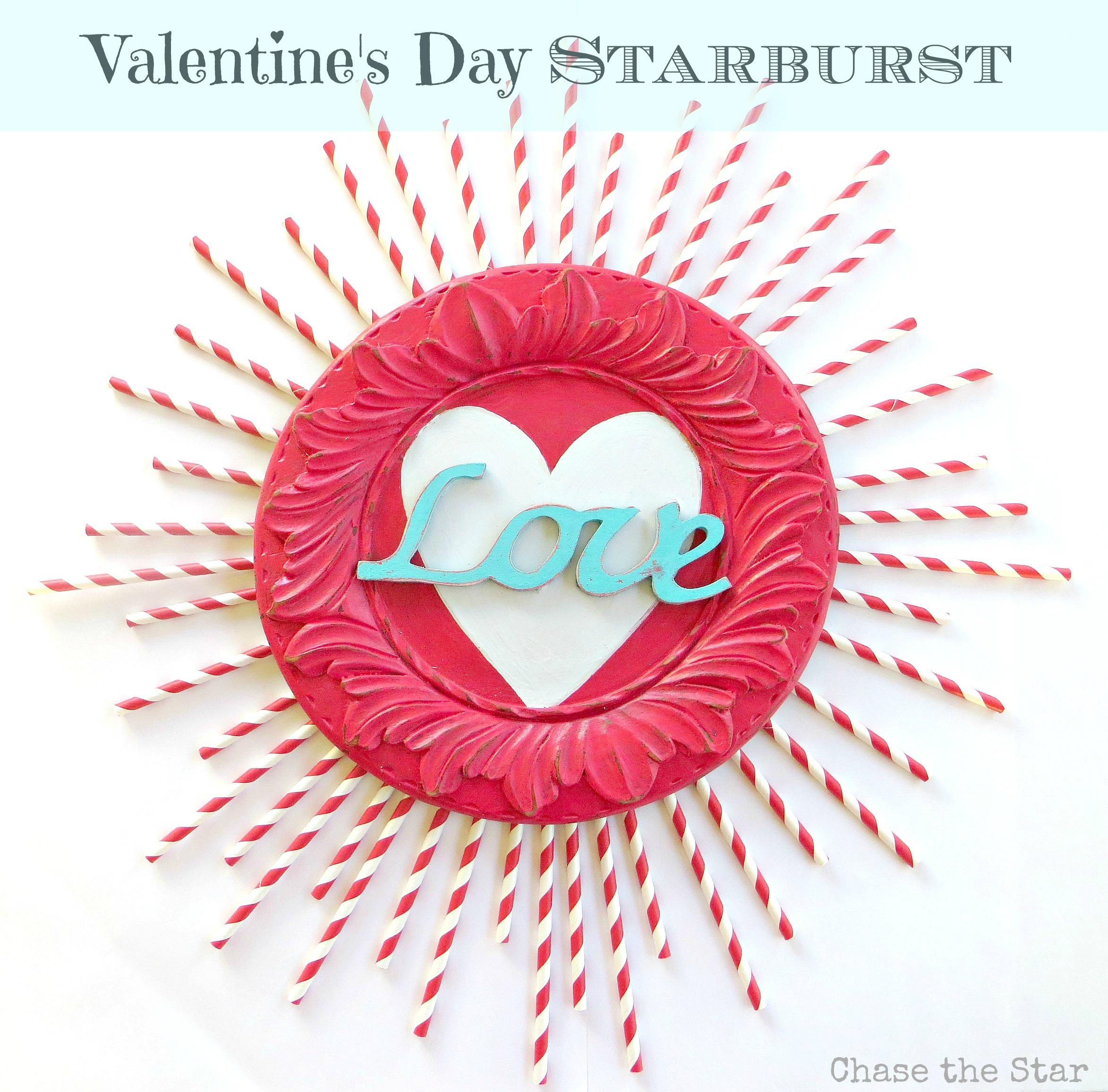 Valentines,Sunburst, dy, craft, straws, red, white, blue, love, wood