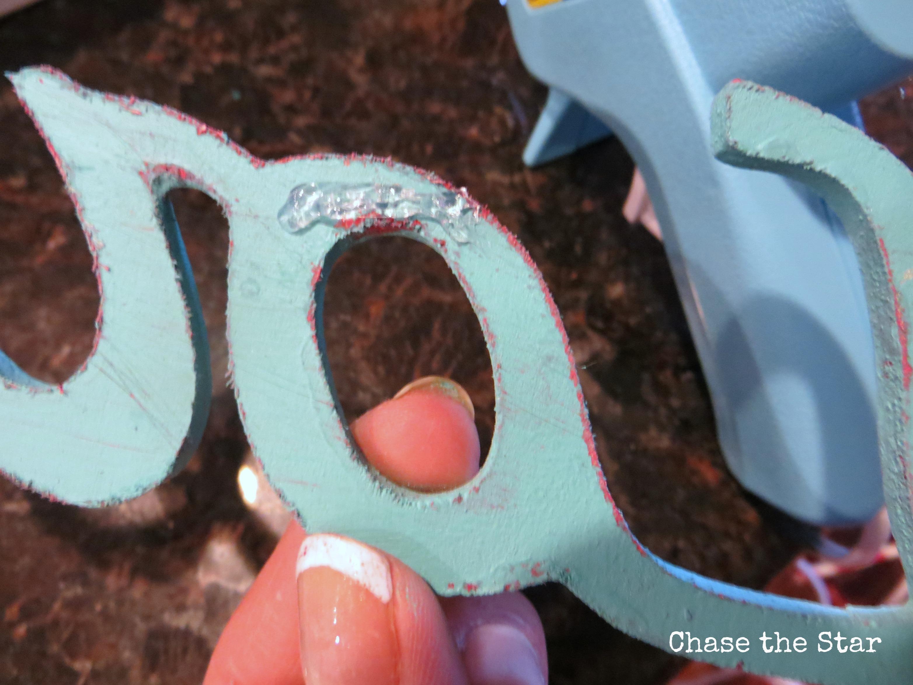 wood applique, blue, mixed paint, distress, hot glue, sunburst, love, valentines, diy, craft