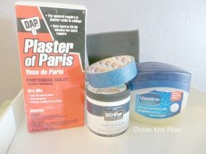diy chalk paint, plaster of paris