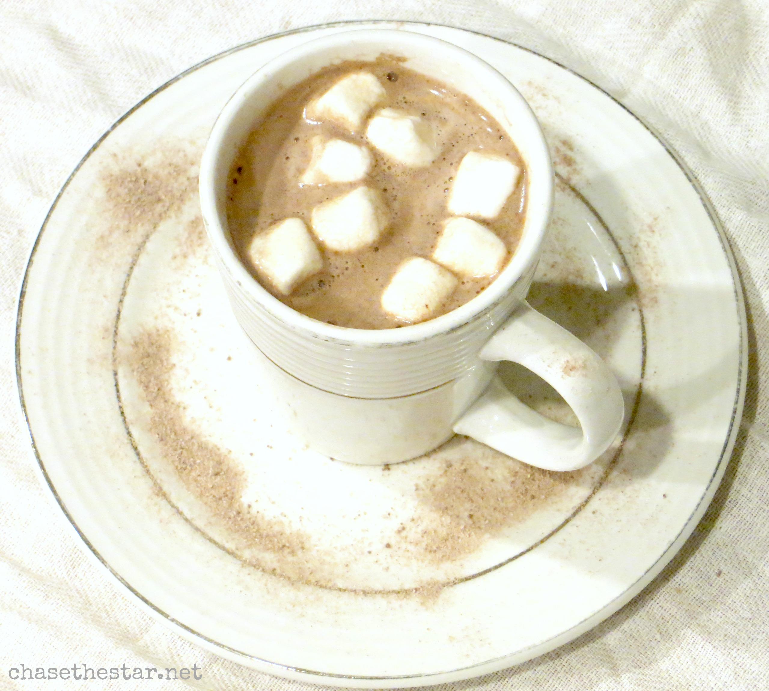 homemade hot cocoa, chocolate