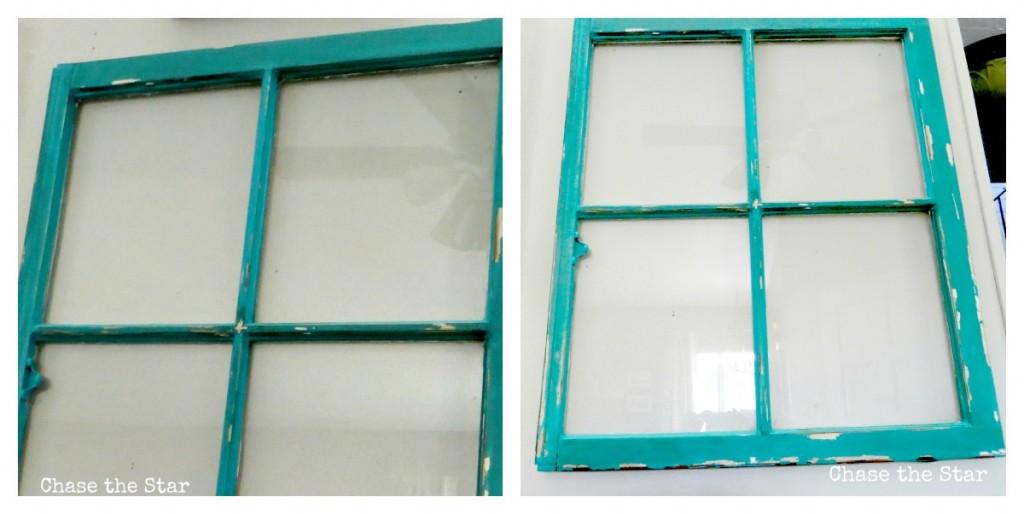 vintage window diy chalk paint, distressed