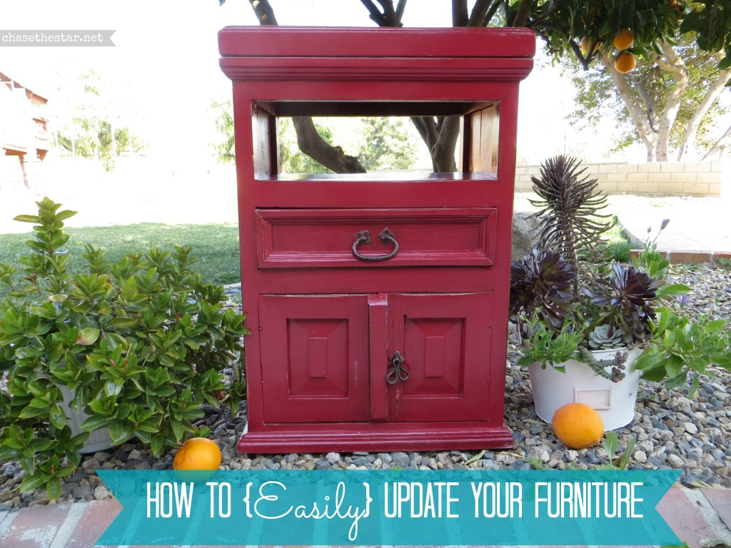 Red Nightstand Makeover #nightstand #furniture #DIY #makeover #red www.hellolifeonline.com