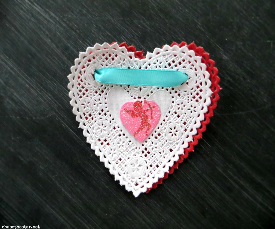 valentines, card, diy, cradt, doily, turquoise, red, hearts