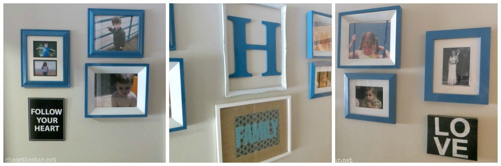 Family Gallery Wall via hellolifeonline.com #familypictures #gallerywall #hallway