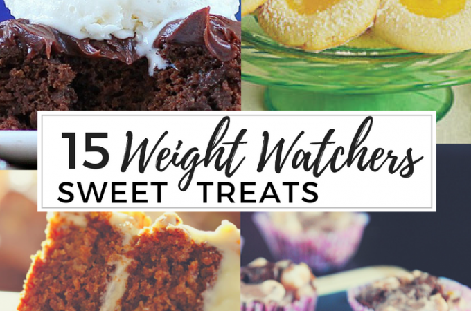 15 Weight Watchers Treats- These recipes make it easy to stick to your Smartpoints allowance while enjoying chocolate, cake, and cookies! Yumm!