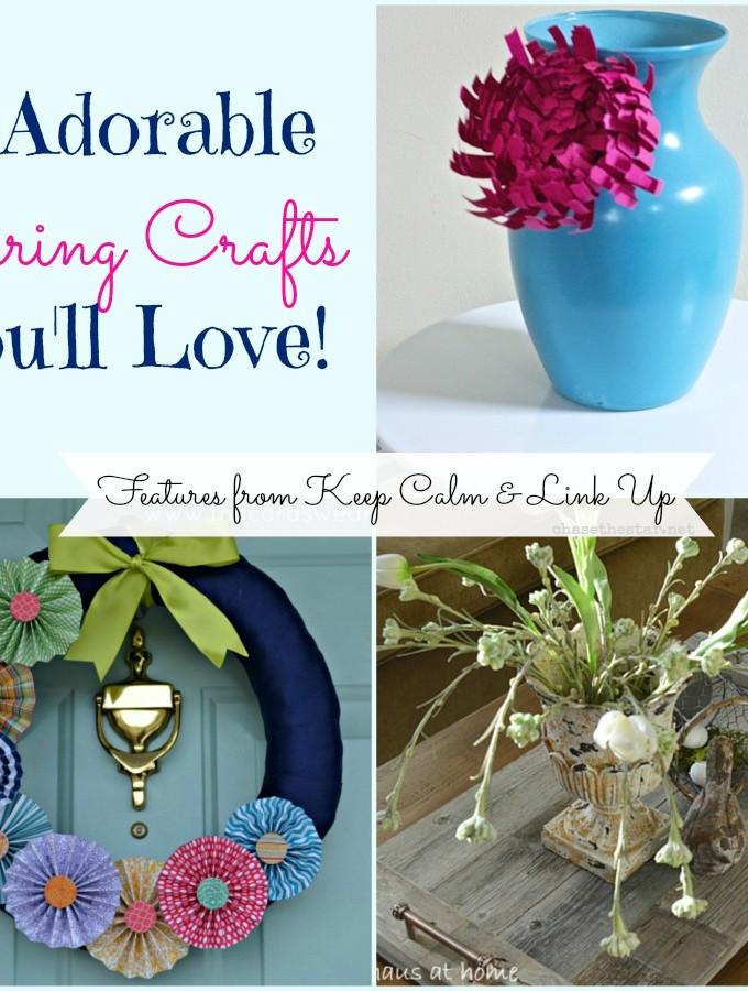 spring, crafts, diy, wreath, vase, tray, reclaimed wood