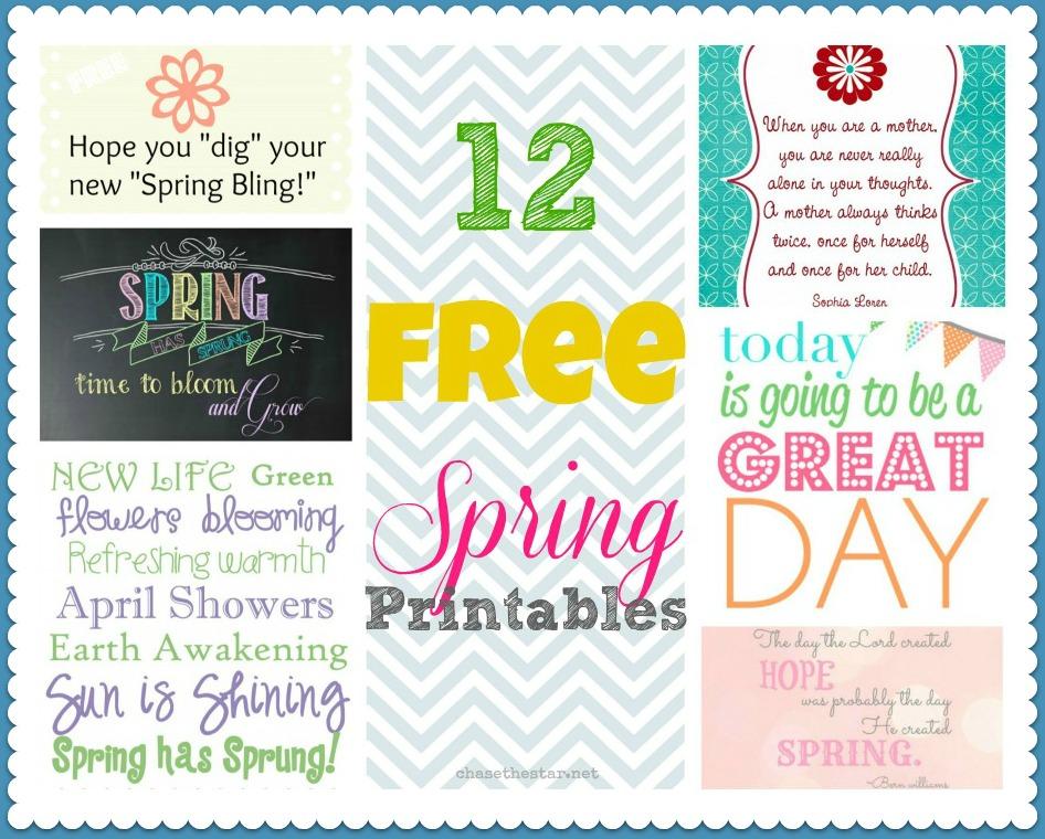 12 Free Spring Printables via Chase the Star #printable #spring #free