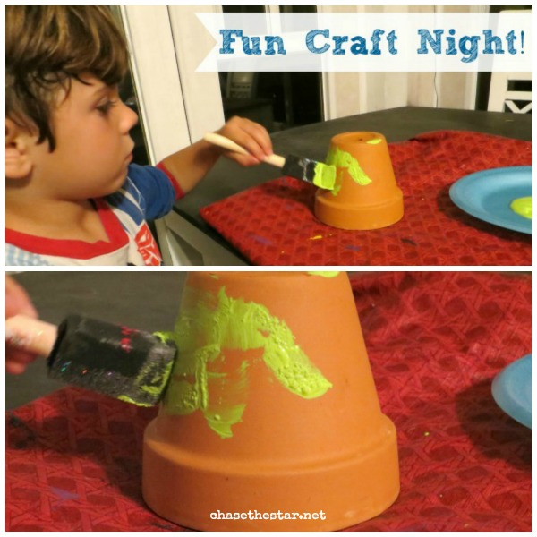 Terra Cotta Pot Tower via www.hellolifeonline.com #kidscraft, ##plaidkidscraft, #modpodge, #washitape