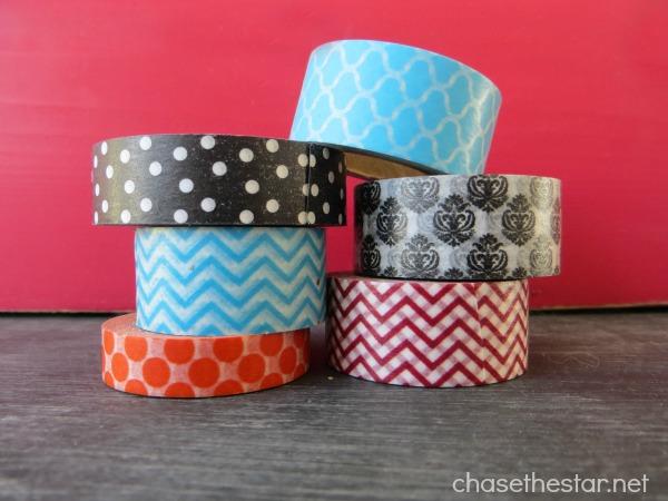 Washi Tape Tealights via Chasethestar.net #washi #tealight #craft #diy #candle