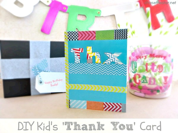 Diy Kid S Thank You Cards