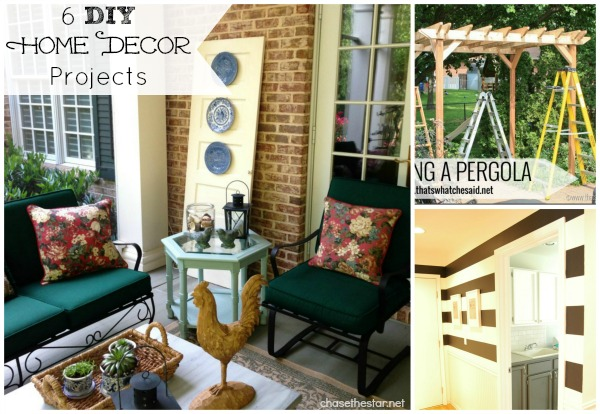 6 DIY Home Decor Projects #decor #DIY #home #outdoor