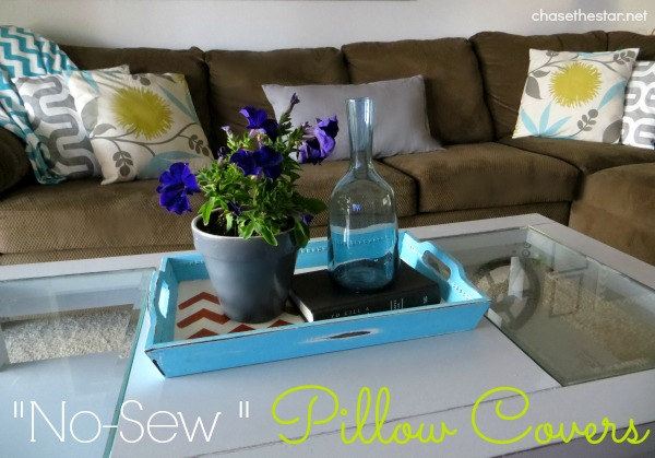 How to easily make 'no-sew' pillows using my secret tool! Plus Online Fabric Store# giveaway! #ad #pillow #diy #decor #nosew
