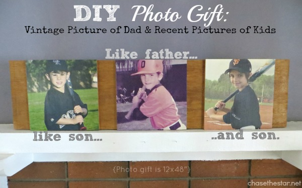 DIY Photo Gift {for Father's Day or any day}!