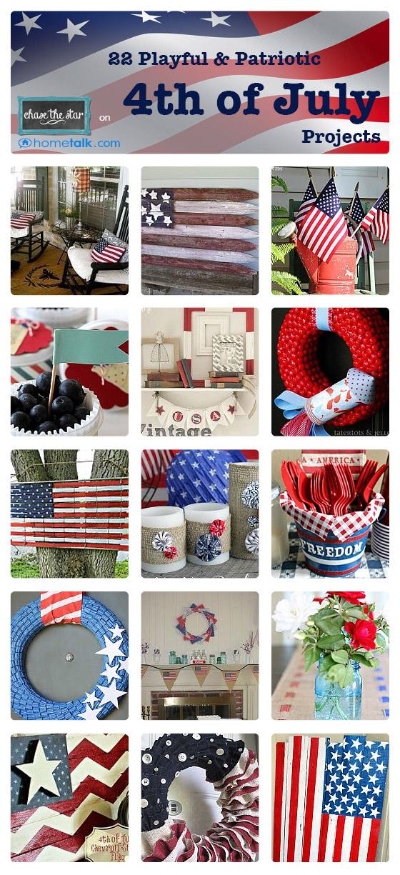 4th of July Inspiration from Hometalk.com via hellolifeonline.com #craft #diy #craft #4thofjuly #patriotic