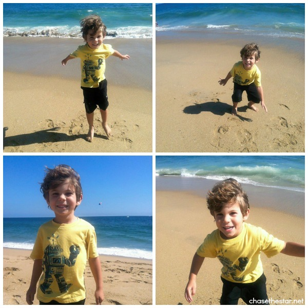 Baby beach collage