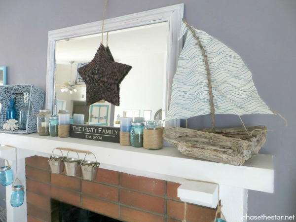DIY Driftwood Sailboat5 via hellolifeonline.com #driftwood #sailboat #beach