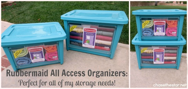 & Keeping Things Organized with Rubbermaid All Access Organizers