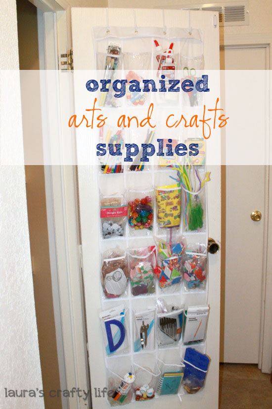 organized arts and crafts supplies