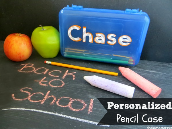 Personalized Pencil Case with #Cricut via Chase the Star #backToSchool #diycraft #kids