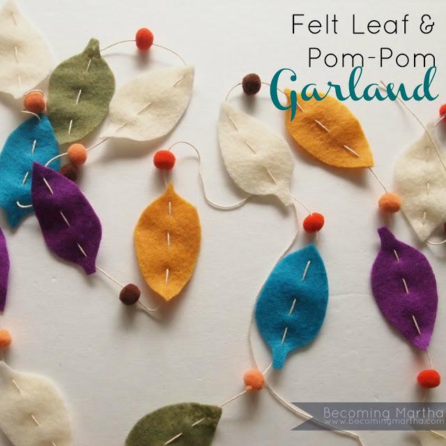 felt leaf garland main