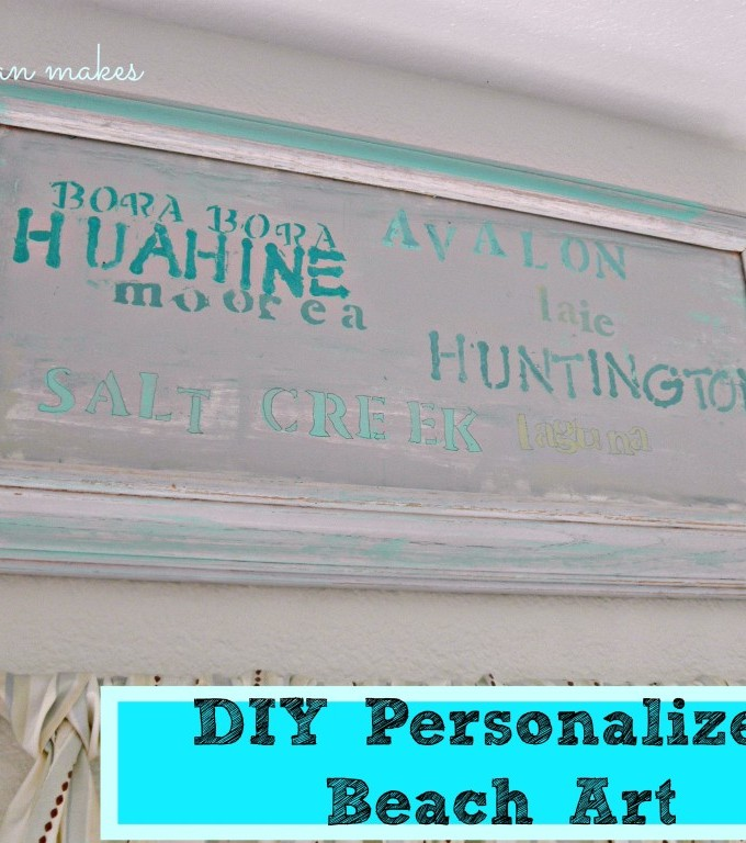 DIY Personalized Beach Art by What Meegan Makes for Chase the Star