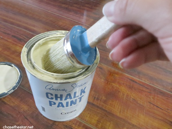 Annie Sloan Decorative Chalk Paint in Cream via Chase the Star {Stool Makeover}