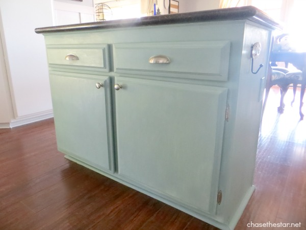 Painted kitchen island for Duck egg blue kitchen island