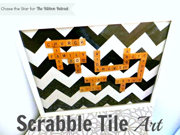 Easy to put together Scrabble Tile #Art via Chase the Star #scrabble #art #DIY