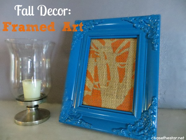 Fall Mantel Banner and Framed Art2 via Chase the Star hellolifeonline.com #decoArt #americanapaint #sponsored #fallDecor #fall #stencil