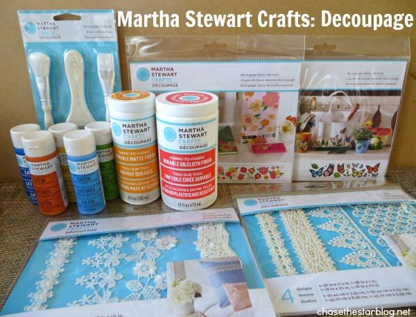 martha stewart decoupage Tote Bag Update via Chase the Star #oilcloth #fabric #canvas #dieCut #marthadecoupage 1
