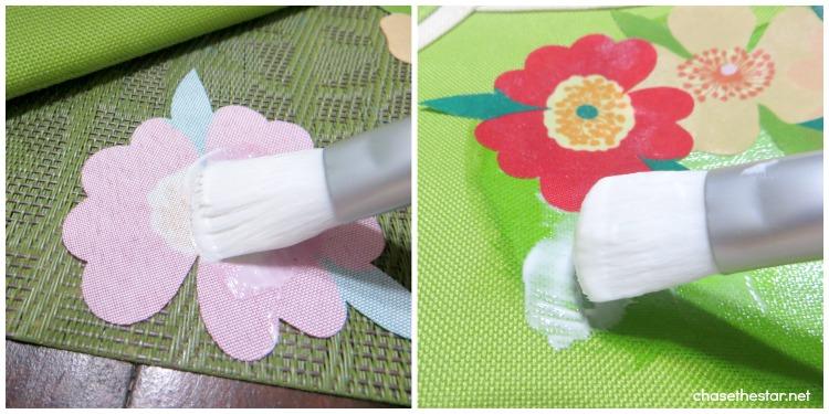 martha stewart decoupage Tote Bag Update via Chase the Star #oilcloth #fabric #canvas #dieCut #marthadecoupage 4