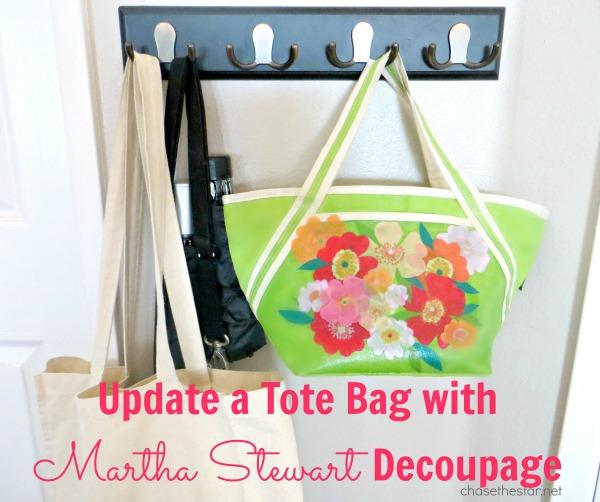 Update a Tote Bag with Martha Stewart Decoupage