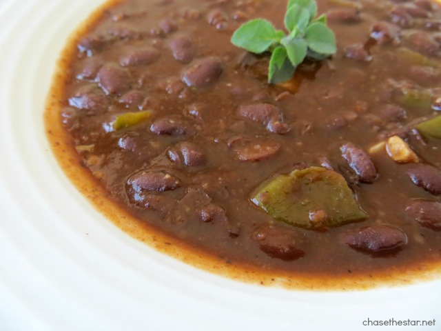 Delicious Easy Cuban Style Black Beans via Chase the Star #blackbeans #cuban