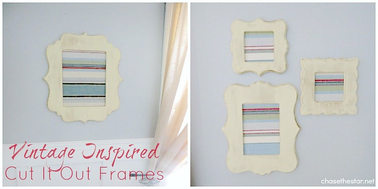 Vintage Inspired Cut It Out Frames via Chase the Star #CutItOut