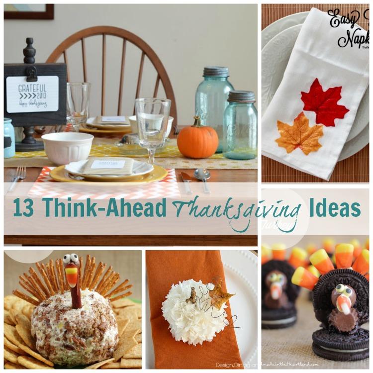 13 Think Ahead Thanksgiving Ideas via Chase the Star