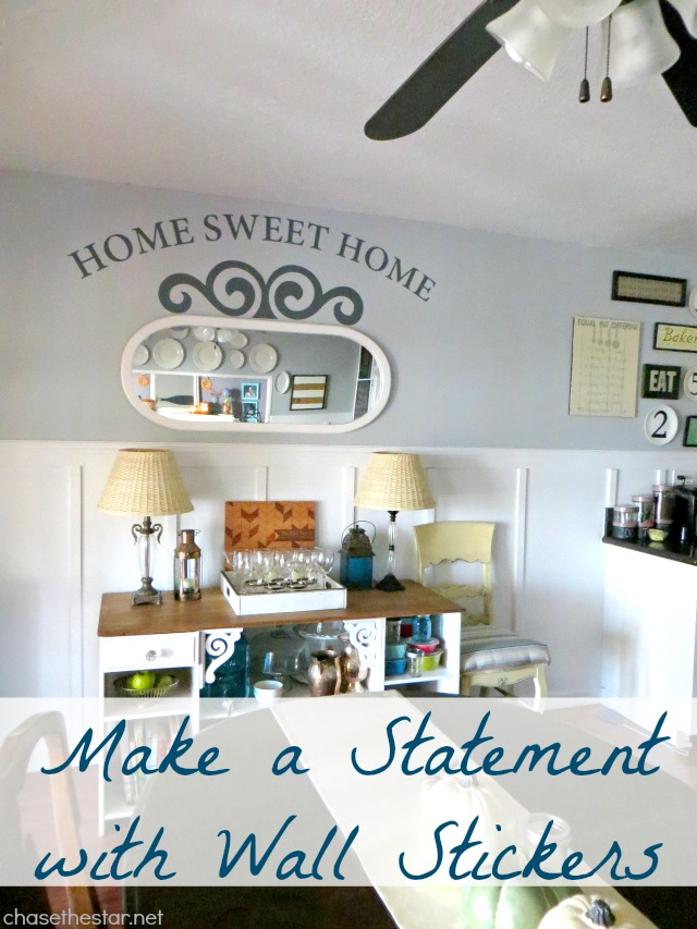 Icon Wall Sticker Review via Chase the Star #WallSticker #HomeSweetHome #vinyl #homeDecor