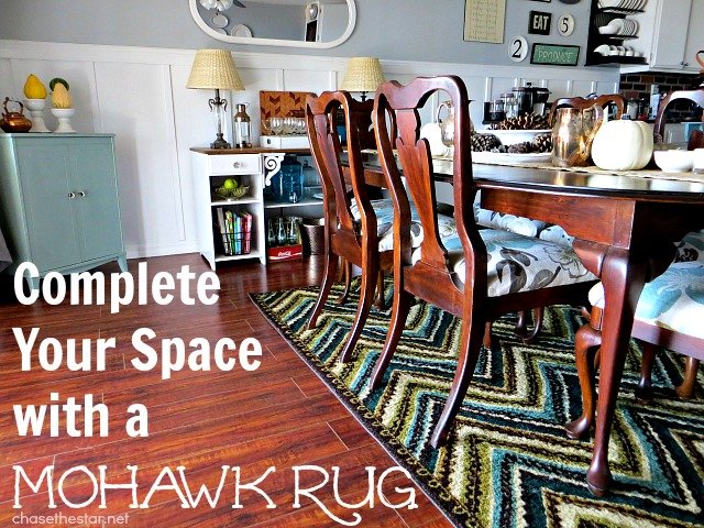 Mohawk Rug Giveaway via Chase the Star #Mohawk #Rug #diningRoom #Kitchen #giveaway
