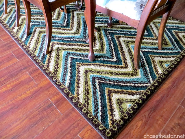 #Mohawk Rug from the Emerald Collection, Zig Zag Stripe Review via Chase the Star. #Chevron #Giveaway