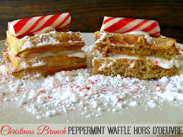 Christmas Brunch Peppermint Waffle Hors d oeuvre via Chase the Star #cbias #ad #chooseSmart