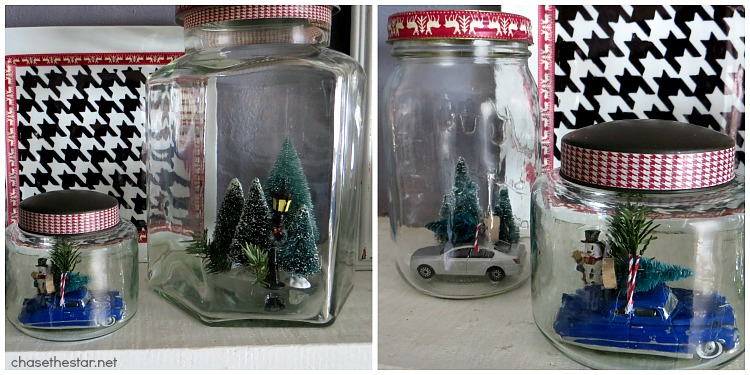 Christmas Scenes in a Jar via Chase the Star