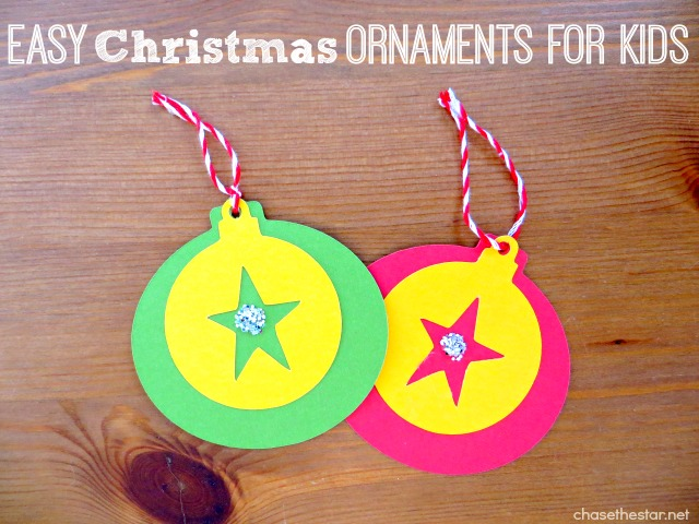 Easy Christmas Ornaments for Kids via Chase the Star