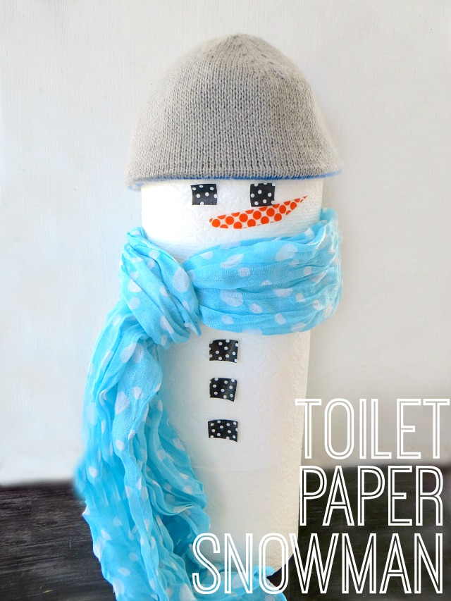 Make sure your guests get what they need at your holiday party! Make a festive Toilet Paper Snowman via Chase the Star #CottonelleHoliday #PMedia #ad
