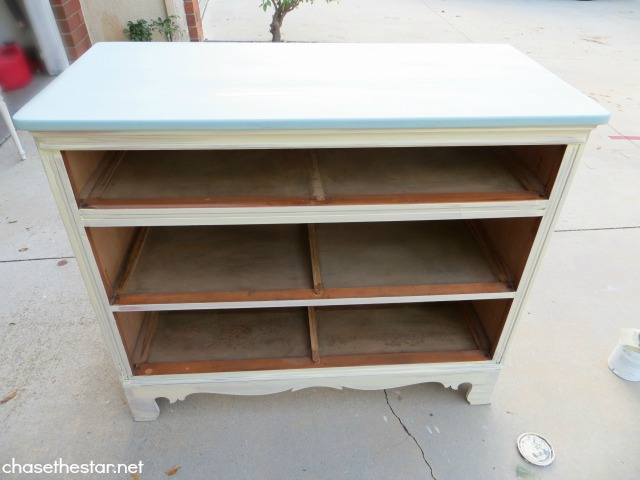 Painted thrift store dresser via Chase the Star