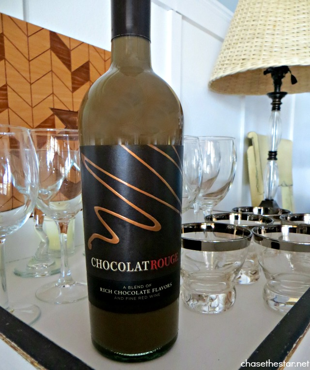 Perfect Gift! Rich Chocolate and Fine Red Wine Yumm! via Chase the Star #Cheers2Chocolate #ChocolatRouge #shop #cbias