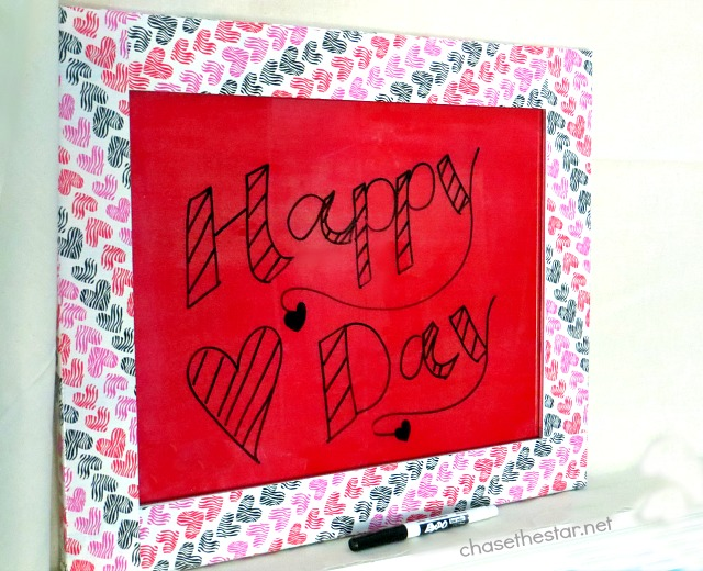 DIY Dry Erase Board perfect for everyday or holidays! Mod Podge Sheer Colors for Glass to make a DIY DryErase Board via #ChaseTheStar #modpodge #plaidcrafts