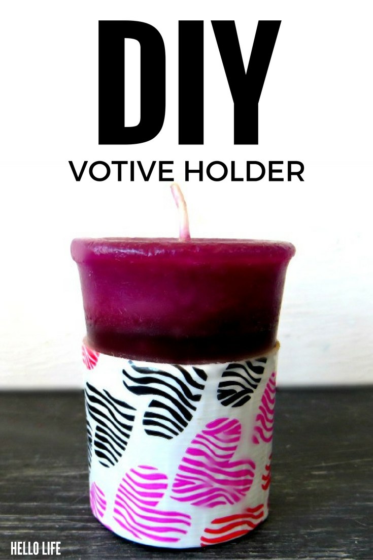 DIY Votive Holders- These fun candle holders are simple to make with Dollar Store votives! Perfect for Valentine's Day, weddings, parties, centerpieces, or just pretty table decorations!