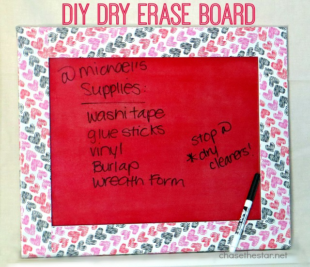 Make your own Dry Erase Board Use Mod Podge Sheer Colors for Glass via #ChaseTheStar #modpodge #plaidcrafts