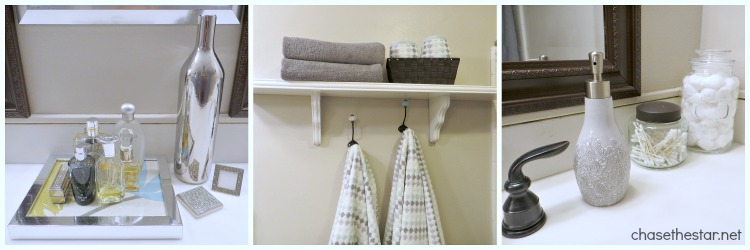 Mini Bathroom Makeover via Chase the Star #accessories #DIY #bathroom #masterBath