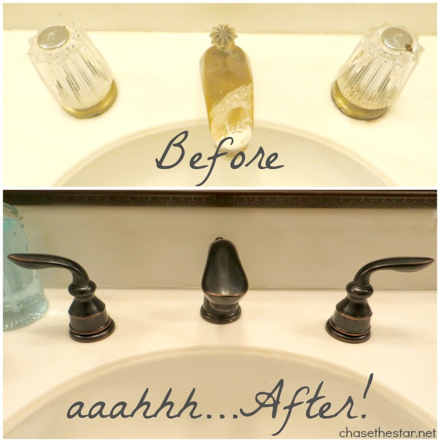 New #Pfister faucets....what a difference! via Chase the Star #nationalBuilderSupply